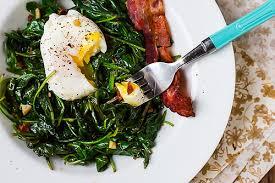 Kale crispy bacon and eggs